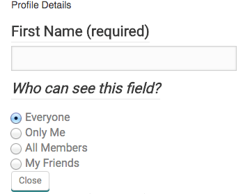 Profile Privacy Details