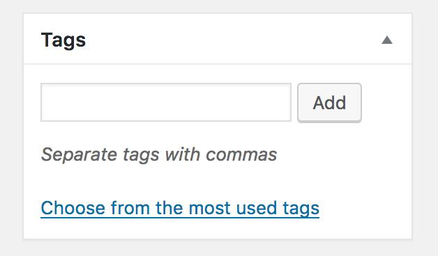 Blog Posts Tags Toolbar